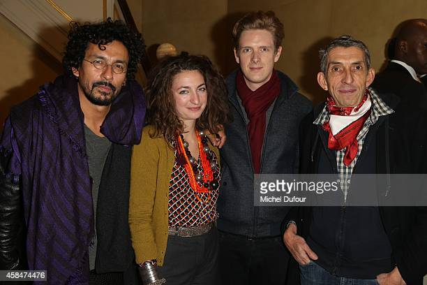 Haider Ackermann Anna Klossowski de Rola Nicolai Belce Kennedy and Michel Klein attend the 'Loulou de la Falaise' book signing on November 5 2014 in...