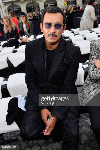 Haider Ackermann attends Le Defile L'Oreal Paris as part of Paris Fashion Week Womenswear Spring/Summer 2018 at Avenue Des Champs Elysees on October...