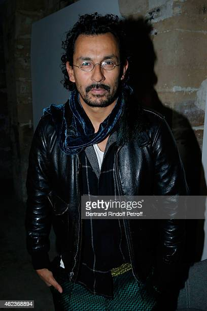 Haider Ackermann attends the launch of Elie Top first 'Mechanique Celestre' collection at Gallerie Mitterrand on January 27 2015 in Paris France