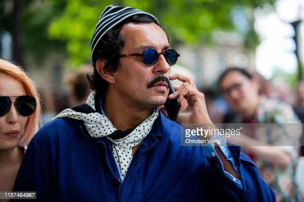 Haider Ackermann is seen at Dior during Paris Fashion Week - Menswear Spring/Summer 2020 on June 21, 2019 in Paris, France.