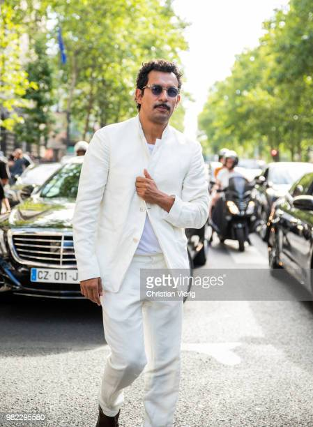 Haider Ackermann is seen outside Dior Homme on day five of Paris Fashion Week Menswear SS19 on June 23 2018 in Paris France