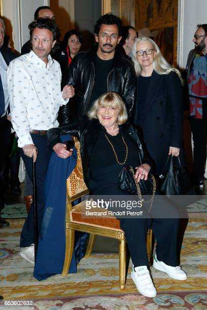 Haider Ackermann Marianne Faithfull and Dominique Issermann attend MarieAgnes Gillot is decorated 'Chevalier de lordre national de la Legion...