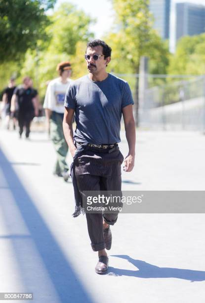 Haider Ackermann outside Lanvin during Paris Fashion Week Menswear Spring/Summer 2018 Day Five on June 25 2017 in Paris France