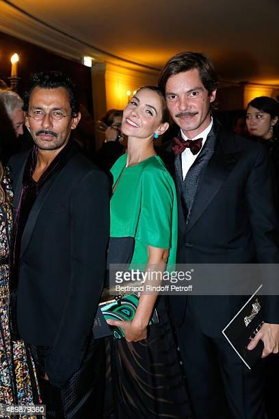 Haider Ackermann, Princess of Savoy Clotilde Courau and Elie Top attend the Ballet National de Paris Opening Season Gala at Opera Garnier on...