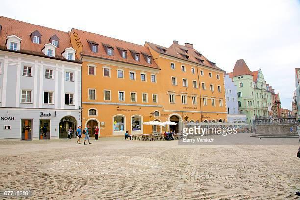 haidplatz in regensburg, germany - レーゲンスブルク ストックフォトと画像