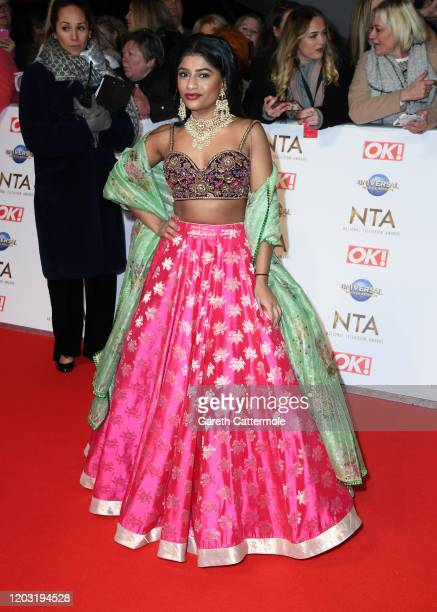 Haiesha Mistry attends the National Television Awards 2020 at The O2 Arena on January 28 2020 in London England