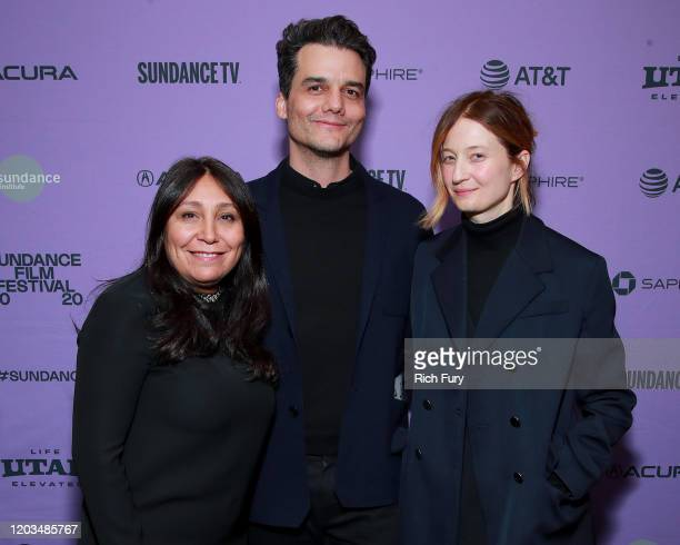 Haifa Al Mansour Wagner Moura and Alba Rohrwacher speak onstage during the 2020 Sundance Film Festival Awards Night Ceremony at Basin Recreation...