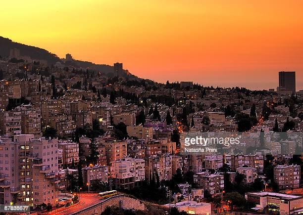 Haifa At Dusk