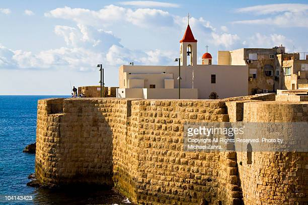 haifa christian church - haifa stock pictures, royalty-free photos & images