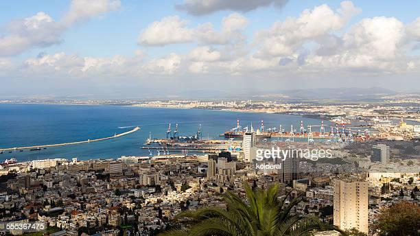 haifa harbor - haifa stock pictures, royalty-free photos & images