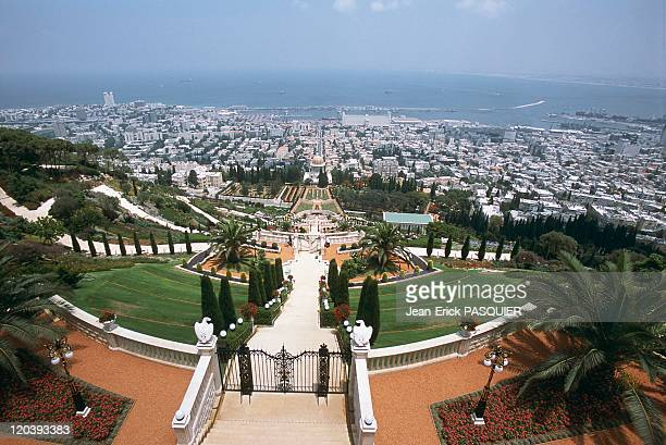Haifa Israel Colossal temple of the Bahais in Haifa