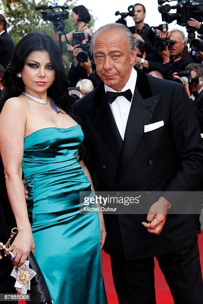 Haifa Wahbi and Fawaz Gruosi attend the Inglourious Basterds premiere held at the Palais Des Festivals during the 62nd International Cannes Film...