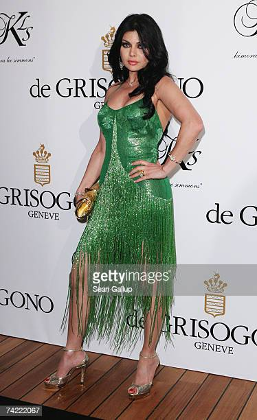 Haifa Wehbe attends the De Grisogono party at Eden Rock during the 60th International Cannes Film Festival on May 22 2007 in Antibes France