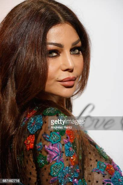 Haifa Wehbe attends the DeGrisogono 'Love On The Rocks' during the 70th annual Cannes Film Festival at Hotel du CapEdenRoc on May 23 2017 in Cap...