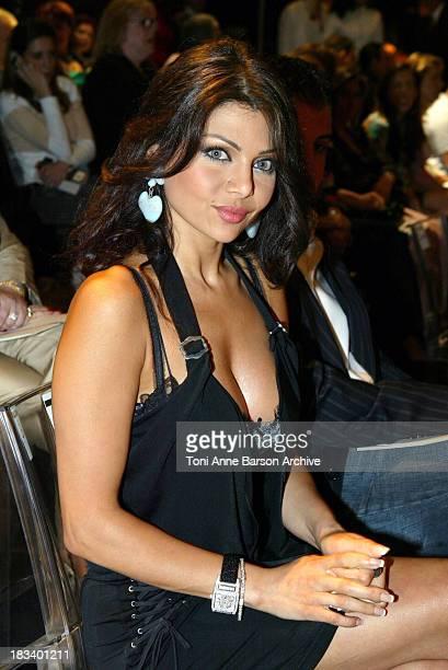 Haifa Wehbe during Paris Haute Couture Fashion Week Elie Saab Fashion Show Front Row at Palais Chaillot in Paris France