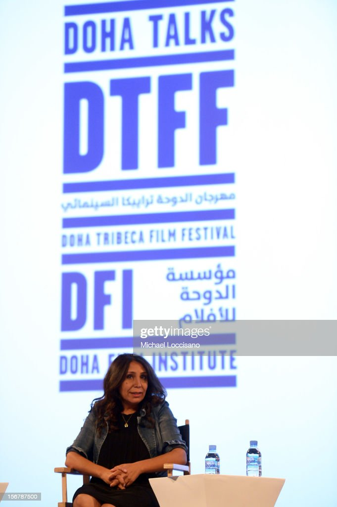 Haifaa Al-Mansour speaks at the Khaleeji Films Overcoming Stereotypes panel during the 2012 Doha Tribeca Film Festival at Katara Opera House on November 21, 2012 in Doha, Qatar.