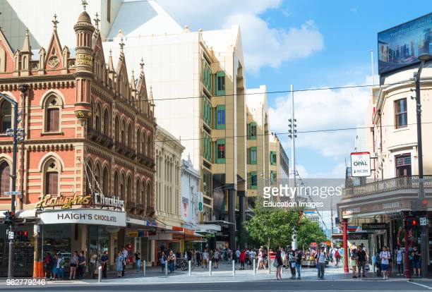 Haigh's Chocolates store on the corner of Rundle street and Frome street in Adelaide's main shopping precinct South Australia Australia