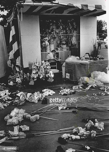 SEP 6 1984 SEP 7 1984 Hail and Hailstorms Colorado John Hubbard Midway Souvenir Company Phoenix Ariz sits in his booth at he Utah State Fair in Salt...
