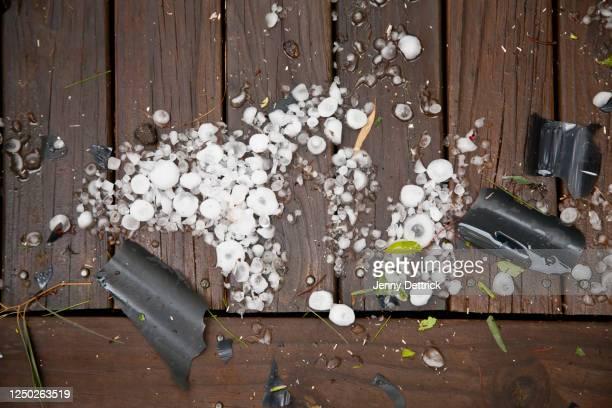 hail damage - 雹 ストックフォトと画像