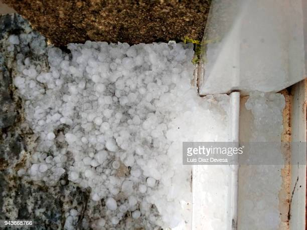 hail in the window - hail stock pictures, royalty-free photos & images