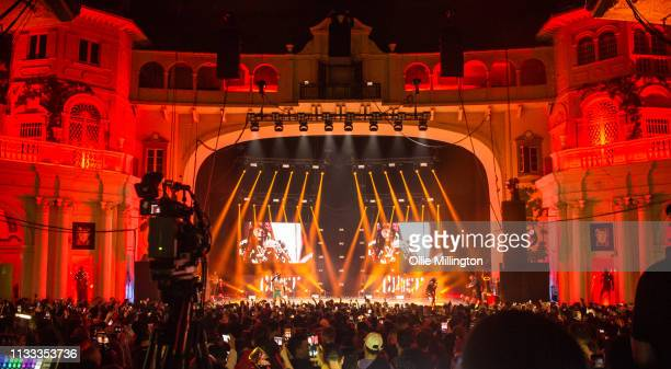 Haile and Louis Rei of WSTRN perform on stage during GRM Daily Presents The Rated Legend Tribute Show In Memory Of Cadet at Brixton Academy on March...