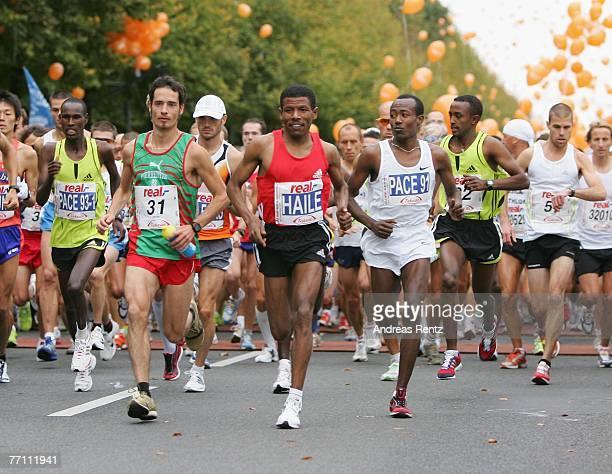 Haile Gebrselassie competes the 34th Berlin Marathon on September 30 2007 in Berlin Germany