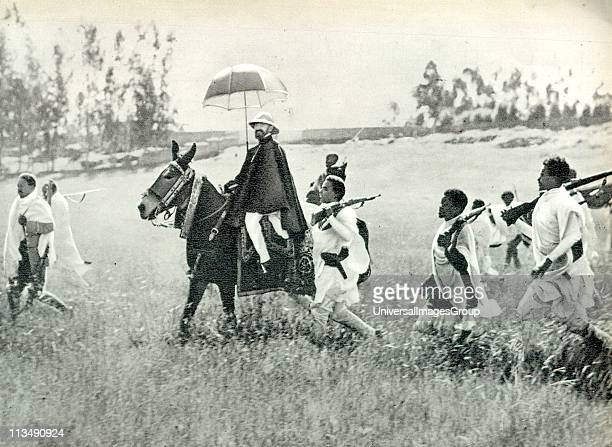 Haile Selassie born Tafari Makonnen was Ethiopia's regent from 1916 to 1930 and Emperor of Ethiopia from 1930 to 1974 Shown with resistance fighters...