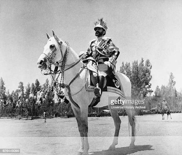 Haile Selassie Emperor of Ethiopia Portrait on Horseback 1935