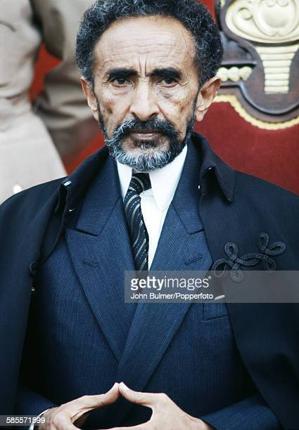 Haile Selassie I Emperor of Ethiopia in his palace in Ethiopia circa 1965