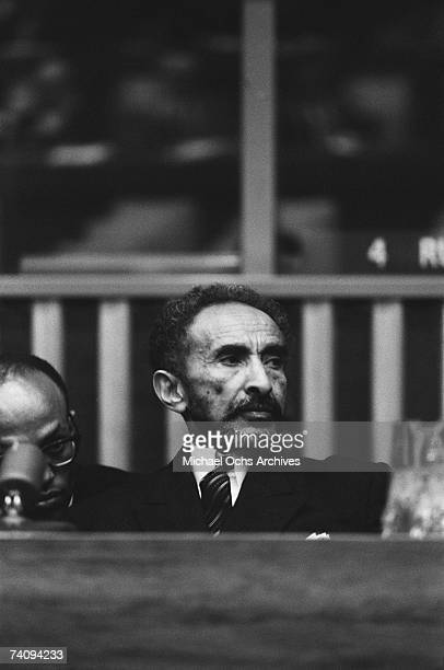 Haile Selassie I Emperor of Ethiopia prepares to address the General Assembly of the United Nations on October 7 1963 in New York City New York