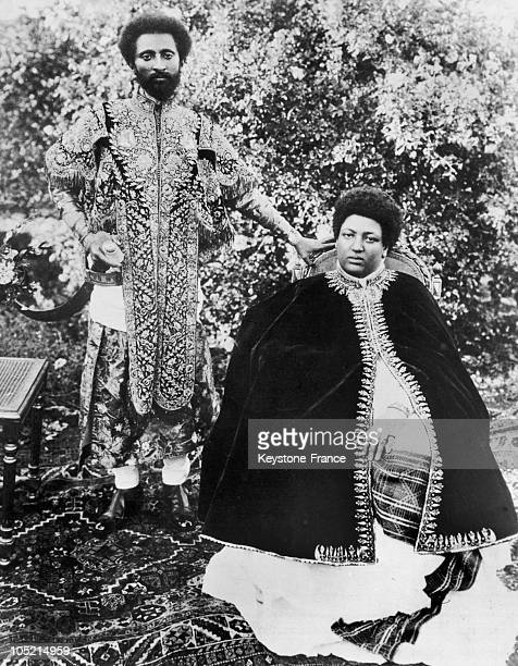 Haile Selassie The Governor Of Harar Province Ethiopia Photographed With His Wife Wayzaro Menen Asfaw In 1911 Little After Their Wedding
