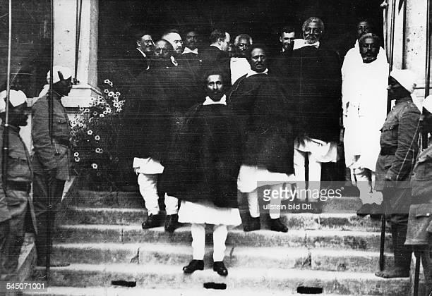 Haile Selassie visiting the German ambessy in Adis Abeba Vintage property of ullstein bild