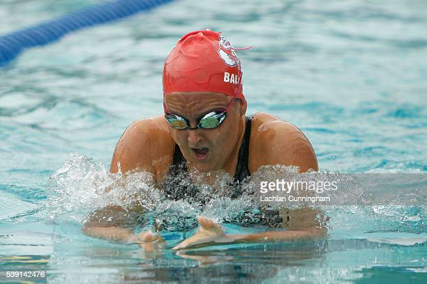 Hailee Baldwin swims in the heats of the 200m breaststroke during day two of the 2016 Arena Pro Swim Series at George F Haines International Swim...