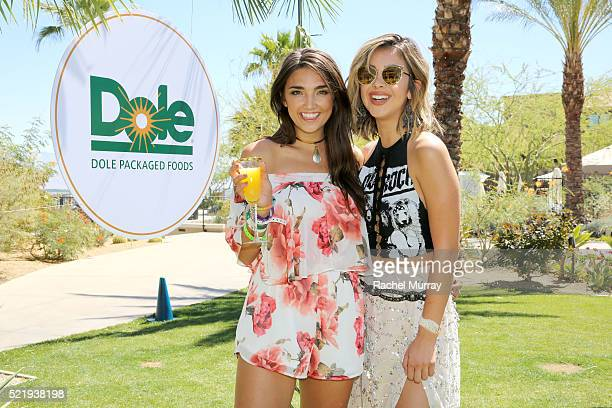 Hailee Lautenbach and Miss California Nadia Mejia attend the Sunshine Squad Brunch by Dole Packaged Foods at Ritz Carlton Rancho Mirage on April 17...