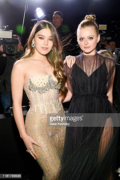 Hailee Steinfeld and Anna Baryshnikov attend Apple's Global Premiere for Dickinson on October 17 2019 in Brooklyn New York Dickinson debuts on Apple...