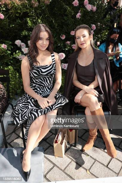 Hailee Steinfeld and Kate Hudson attend the SP22 Michael Kors Collection Runway Show at Tavern On The Green on September 10, 2021 in New York City.