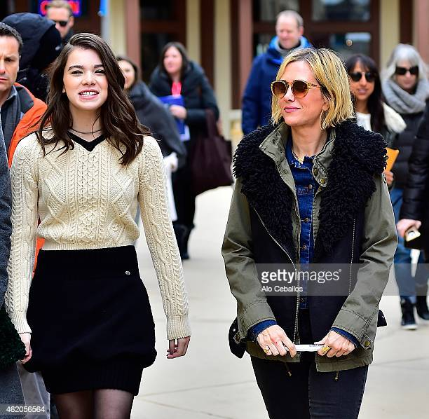 Hailee Steinfeld and Kristen Wiig are seen on January 23 2015 in Park City Utah