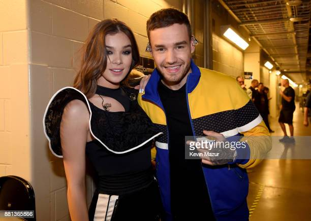 Hailee Steinfeld and Liam Payne are seen backstage at 1061 KISS FM's Jingle Ball 2017 Presented by Capital One at American Airlines Center on...