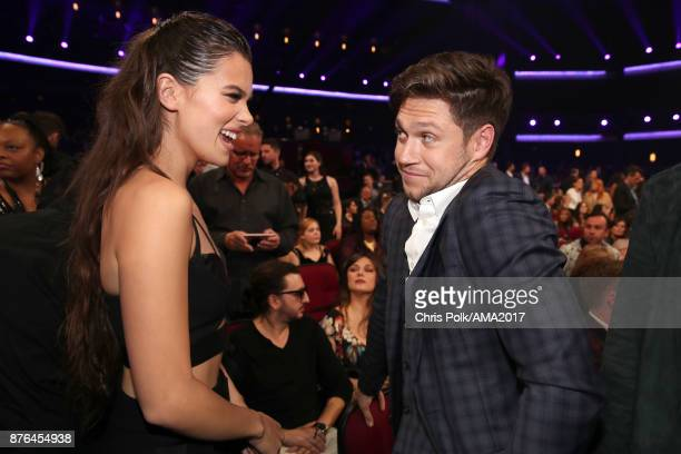Hailee Steinfeld and Niall Horan during the 2017 American Music Awards at Microsoft Theater on November 19 2017 in Los Angeles California