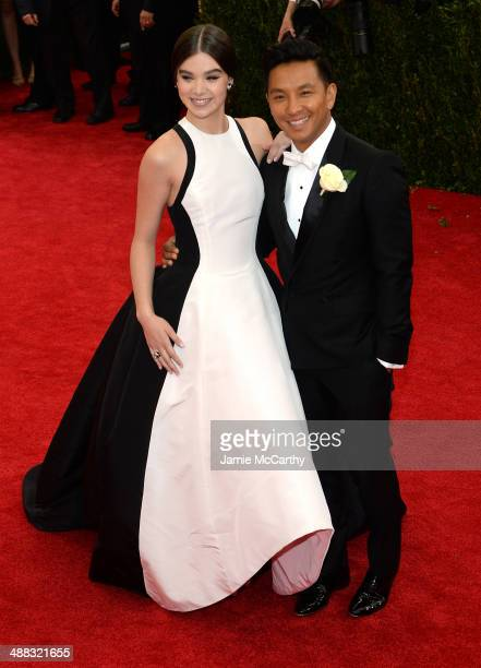 Hailee Steinfeld and Prabal Gurung attend the 'Charles James Beyond Fashion' Costume Institute Gala at the Metropolitan Museum of Art on May 5 2014...