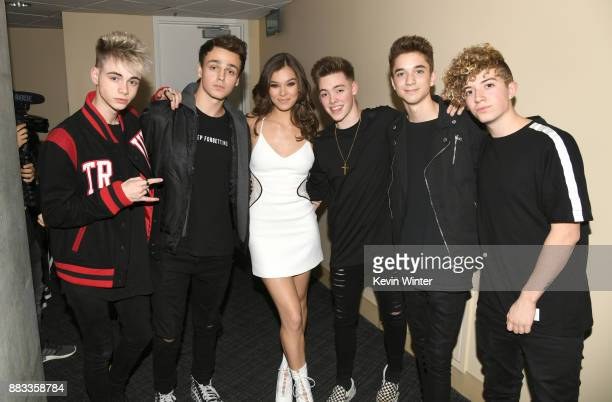 Hailee Steinfeld and Why Don't We members Corbyn Besson Jonah Marais Zach Herron Daniel Seavey and Jack Avery attend WiLD 949's FM's Jingle Ball 2017...