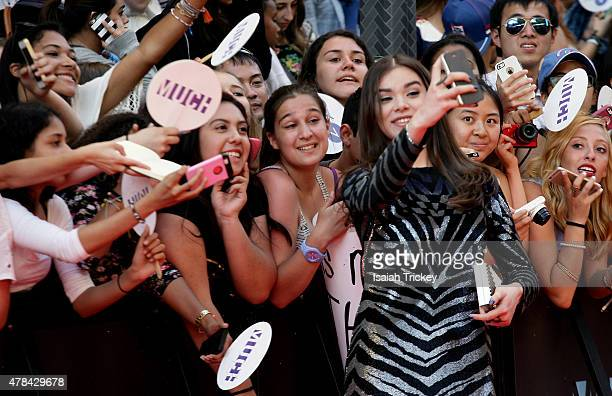 Hailee Steinfeld arrives at the 2015 MuchMusic Video Awards at MuchMusic HQ on June 21 2015 in Toronto Canada