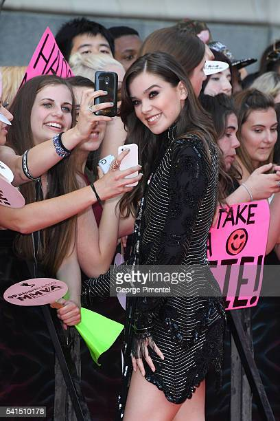 Hailee Steinfeld arrives at the 2016 iHeart MuchMusic Video Awards at MuchMusic HQ on June 19 2016 in Toronto Canada