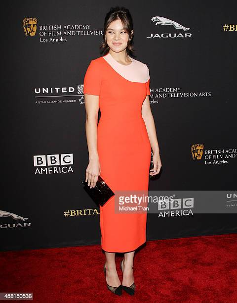 Hailee Steinfeld arrives at the BAFTA Los Angeles Jaguar Britannia Awards held at The Beverly Hilton Hotel on October 30, 2014 in Beverly Hills,...