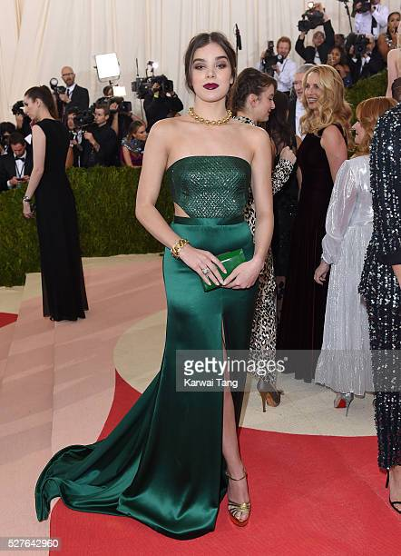 """Hailee Steinfeld arrives for the """"Manus x Machina: Fashion In An Age Of Technology"""" Costume Institute Gala at Metropolitan Museum of Art on May 2,..."""