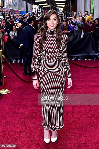 Hailee Steinfeld arrives to Billboard's 10th Annual Women In Music at Cipriani 42nd Street on December 11, 2015 in New York City.