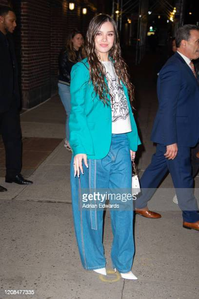 Hailee Steinfeld at the Late Show with Stephen Colbert on February 24 2020 in New York City