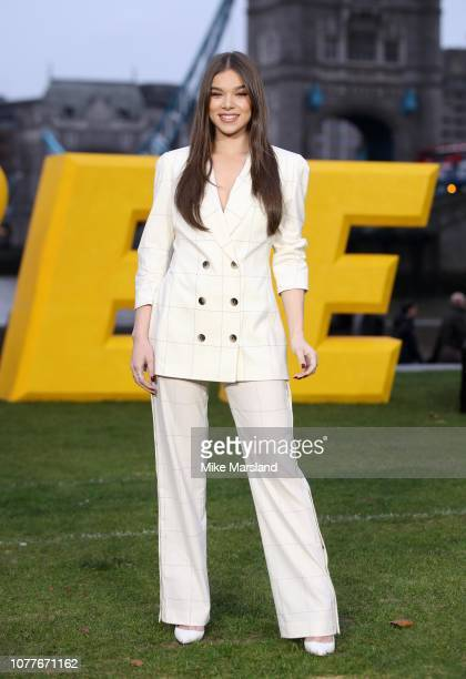 Hailee Steinfeld attends a photocall for Bumblebee at Potters Field Park on December 05 2018 in London England