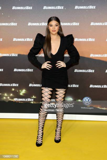 Hailee Steinfeld attends a special screening of 'Bumblebee' at on December 3, 2018 in Berlin, Germany.
