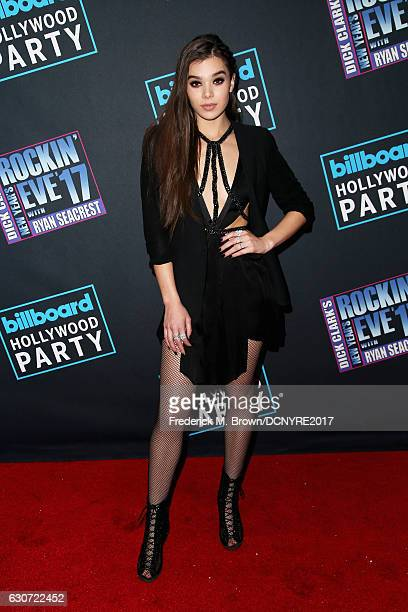 Hailee Steinfeld attends Dick Clark's New Year's Rockin' Eve with Ryan Seacrest on December 31 2016 in Los Angeles California